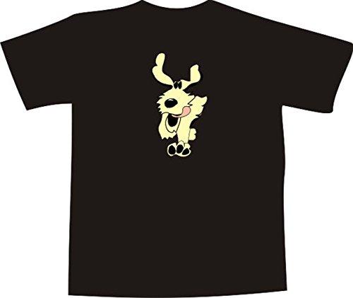 Black Dragon - T-Shirt E679 - Farbe nach Wahl - Größe XXL - Logo - Grafik - Comic Design - lustiger rennender Hund mit großen Ohren - Funshirt Mann Frau Party Fasching Geschenk Arbeit - Bedruckt