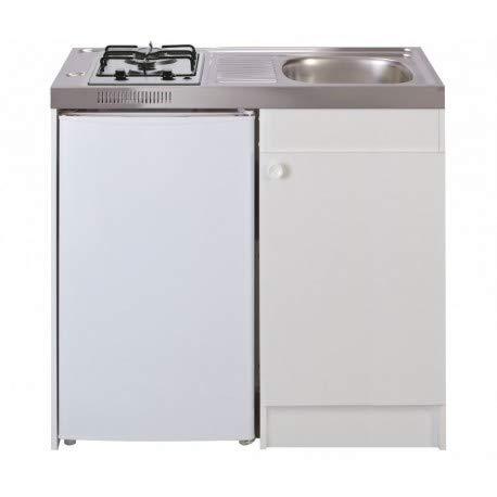 Mezieres – Spüle Küche + Domino Gas, Breite 100 cm, mit Kühlschrank DF114