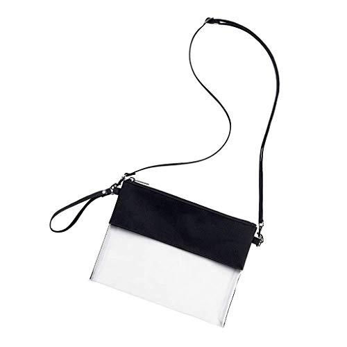 UKtrade Diseño de moda bolso bolso de hombro transparente ajustable correa de hombro transparente diseño de Crossbody