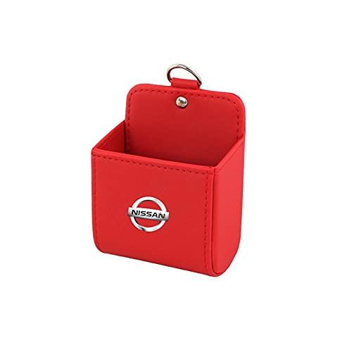 Bolsillo de red para coche Caja de almacenamiento de automóviles Accesorios interiores Titular de teléfono móvil Bolsa de caja de aire Outlet Dashboard Colgando de cuero, adecuado para Nïssâsãñ