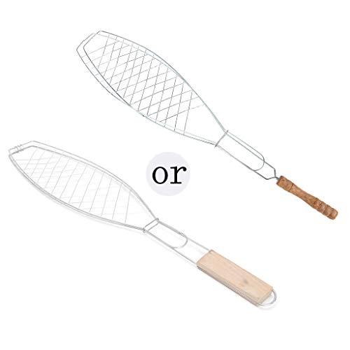 Joocyee BBQ Fisch Grillkorb Clip Ordner Werkzeug Braten Fleisch Fleisch Aufklappbarer Grillrost,Einzelfisch Grillnetzklemme,Wie abgebildet