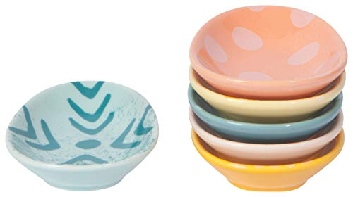 Now Designs Easter Egg Pinch Bowls, Multi Colored - 1 oz | Set of 6