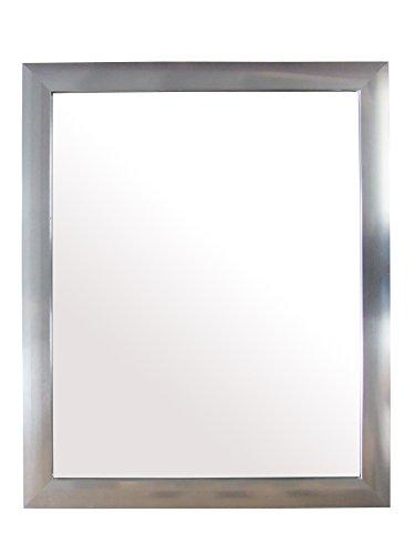 King Home S1710944 Specchio da Parete con Cornice, Silver, 40X50H