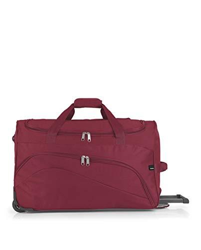 Gabol - Week | Bolso con Rueda de Viaje Mediano de Tela de 60 x 36 x 30 cm con Capacidad para 65 L de Color Rojo