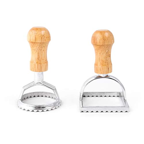 Fox Run 57670 Ravioli Cutter Stamps, Round & Square, Set of 2