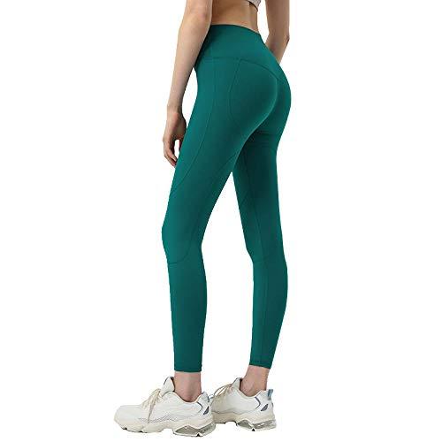 Yoga Hose Leggings Leggings Für Yoga Grün Sport Leggins Yoga für Frauen High Waist Yoga Hosen mit Taschen Gym Laufhose