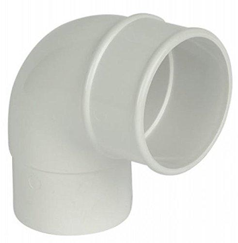 Wei/ß FLOPLAST 65 mm Fallrohr quadratisch 92,5 Degree etagiert Biegung
