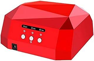 Secadores de uñas Nail Dryer diamante en forma de diamante Lámpara uv Lámpara de Uñas Led & Ccfl Curing para Uv Gel Esmalte de Uñas Arte Herramientas de Manicura/rojo