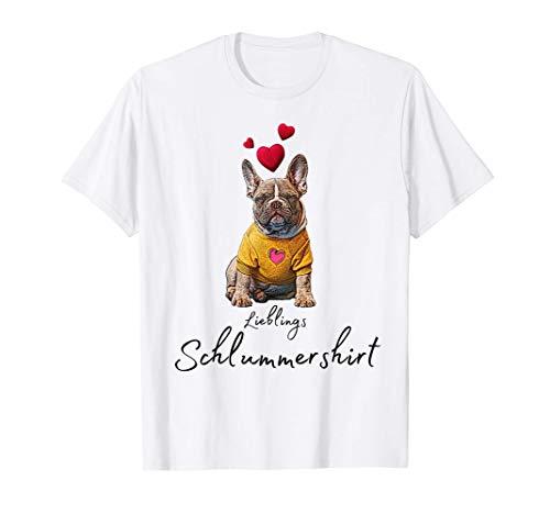 Lieblings Schlafshirt Hund mit Herz Schlafanzug Hundemotiv T-Shirt