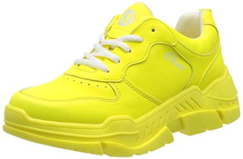 s.Oliver Damen 5-5-23677-24 Sneaker, Gelb (NEON Yellow 699), 37