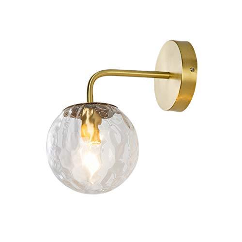 TOOGOO Lampe de Mur Nordique en Verre Doré Salle de Bains Chambre Escalier LumièRe Maison Lampe Murale éClairage