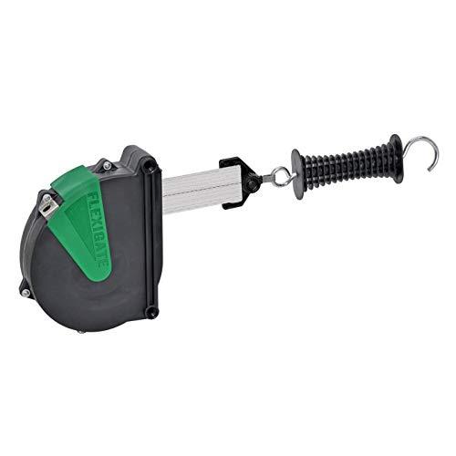 Sistema Flexigate con enrollador automático de cinta para pastor eléctrico, con cinta conductora 7,5 m
