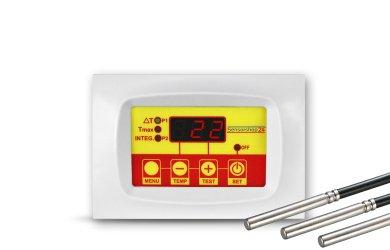 Temperatur-Differenzregler Solar mit 3 Fühlern