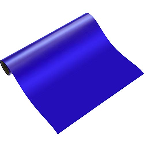 Heat Transfer Vinyl Roll for T-Shirts, Hats, Clothing, Iron on HTV Compatible with Cricut, Cameo, Heat Press Machines, Sublimation (Blue, 12 Inch x 5 Feet)