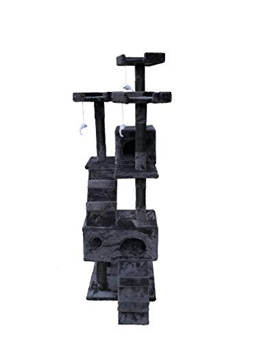 MaxxPet Tiragraffi – Albero da Arrampicata per Gatti – Altezza 170 cm – Antracite
