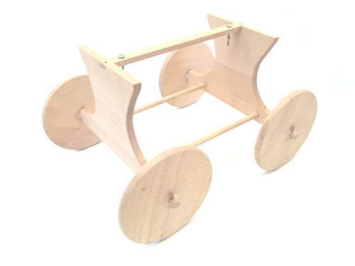 Kindermöbel Stubenwagenuntergestell, Untergestell für Babywiege, Buche massiv, unbehandelt