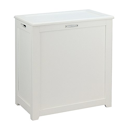 Oceanstar Storage Laundry Hamper White
