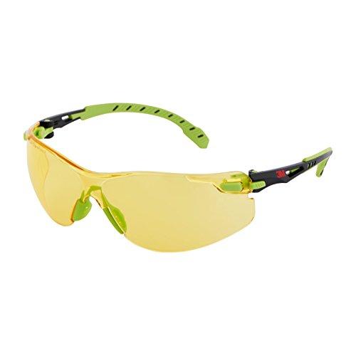 Solus S1203S gafas de seguridad, lente transparente, antivaho, verde/negro marco