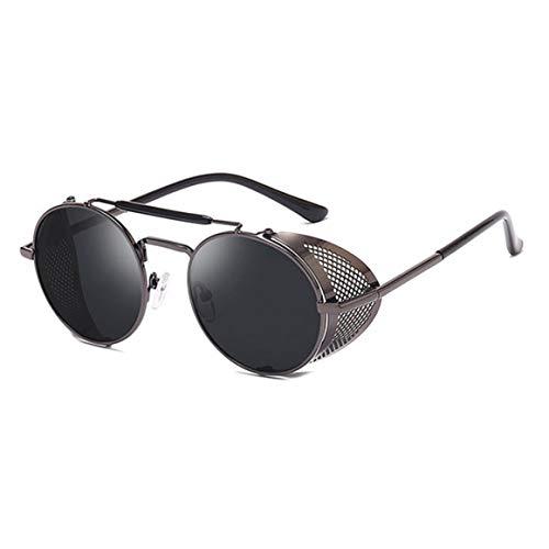Mujeres Hombres Gafas de Sol de Moda, Estilo Punk con Marco de Metal Hombres Mujeres Gafas de Sol Unisex Uv400 Gafas Protectoras de Viaje Gafas de Sol Vintage Gafas de conducción Anti-Ultravioleta