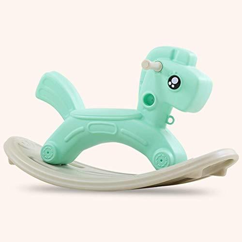 Cheval à bascule Enfants Bébé Jouet Bébé cheval de Troie cadeau d'anniversaire Rocking Chair Car Lostgaming ccgdgft (Color : Green)