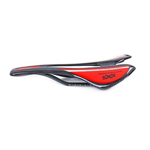ELITA ONE New Italia Top-Level OEM Mountain Bike/Biciclette da Strada Fibra di Carbonio Reggisella Sellini 270 mm * 143mm Nero (Rosso Lucido)