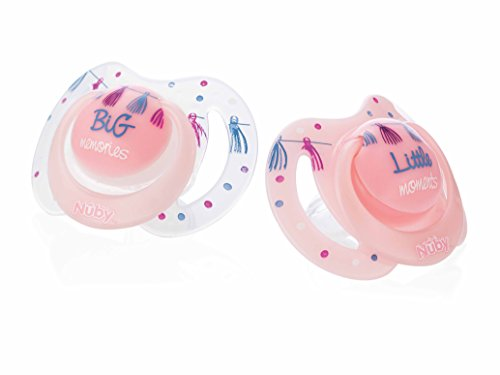 Nuby Pack De 2 Chupetes Little Moments 0-6 Meses, Rosa