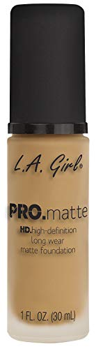 L.A.Girl HD Pro. Matte Foundation, Medium Beige,...