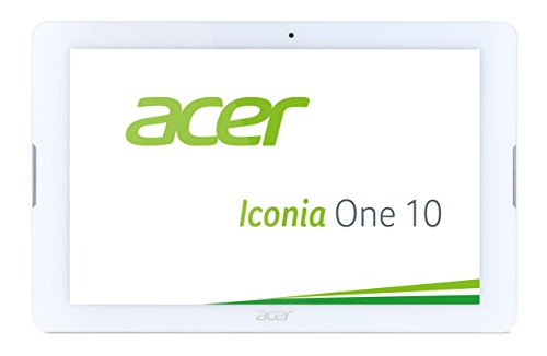 Acer Iconia One 10 (B3-A20) 25,7 cm (10,1 Zoll HD Touch IPS) Media Tablet (1,3 GHz Quad-Core, 16 GB, 1 GB RAM, GPS, Bluetooth, MicroSD, MicroUSB, WLAN, Android 5.1, Multi-Touch) weiß