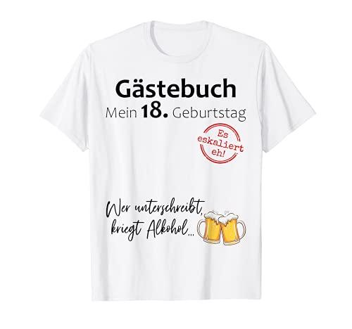 18. Geburtstag Junge Mädchen Party Gästebuch Lustig Geschenk T-Shirt