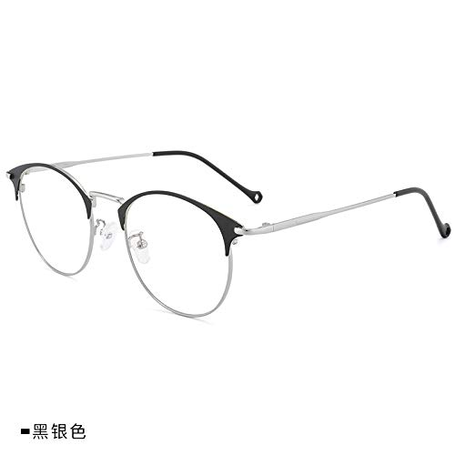 JXFS Blue Opaque Glasses Fashion Metal Frame of Optical Lens Anti-Blue Light for Computer and Gaming Glasses Eyes Spiritual Satisfaction