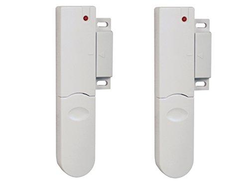 2er Set Funk Tür- /Fensterkontakt, Zubehör für ELRO Pro Alarmsystem AP5500, Einbruchschutz Alarmanlage