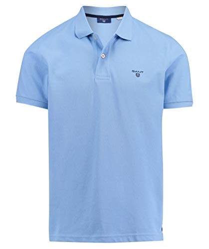 GANT Herren Poloshirt The Summer Pique Kurzarm Aqua (53) XL