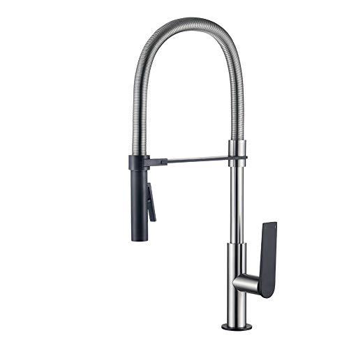 GRIFEMA G14001A Flexibele keukenkraan, mat/zwart