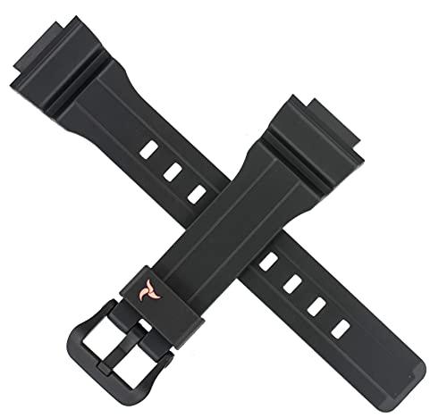 Correa de reloj Casio para STL-S300H STL S300H S300 300 color negro y rojo