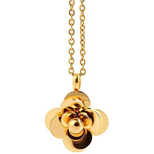 chaosong shop Moda 2016 nuevo estilo de acero inoxidable 18K chapado en oro de flores ecllllia flor colgante para mujer