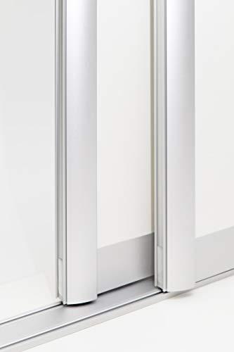 Schiebetürbausatz inkl. Aluminium Rahmentyp C | Inkl. Beschläge für 2 Türen, max. Flügelmaße: 1050 x 2700 mm | Füllung kommt von Ihnen | Boden- und Deckenschiene in 2000 mm