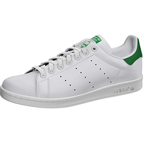 adidas Stan Smith M, Scarpe da Ginnastica Uomo, Footwear White/Core White/Green, 44 2/3 EU