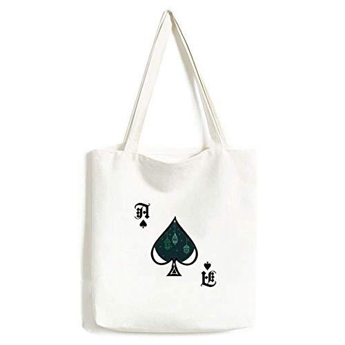 Laterne einfache geometrische Formen Muster Handtasche Craft Poker Spaten waschbar Tasche
