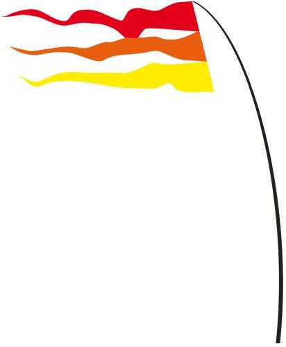 Fahnen - Bogen Banner Warm Summer - UV-beständig und wetterfest - Abmessung: 160x75cm - inkl. Teleskopstab und Bodenanker (Warm Summer)