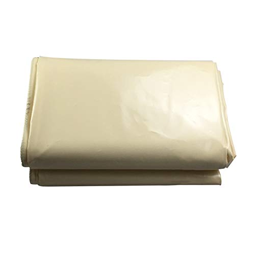 Bâche Extérieure Épaisse, Imperméables avec Un Tissu Antipluie Résistant À La Pluie, Écran Solaire en PVC, Jaune Clair (Taille : 3x4m)