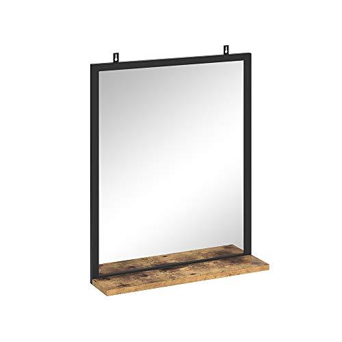 Vicco Badspiegel Fyrk Badezimmerspiegel mit Ablage Wandspiegel für Badezimmer (Vintage)