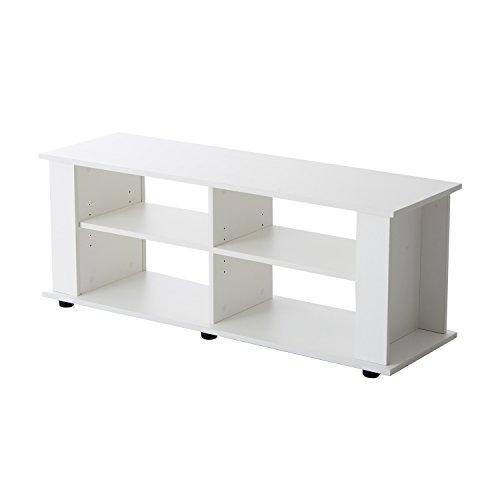 homcom – Mobile Porta-TV Scaffale in Legno 122 x 38.1 x 46.7cm Bianco