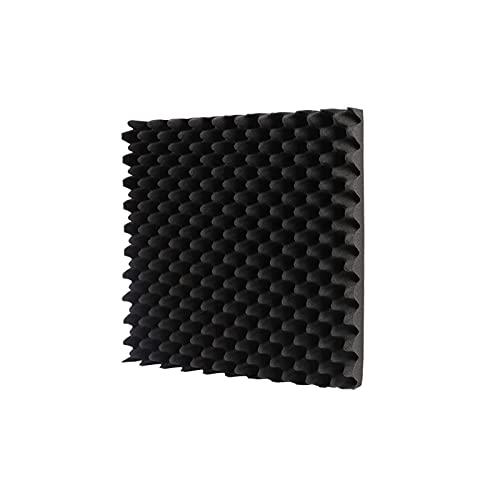 Paneles de Espuma acústica, Barra KTV Azulejos de cuñas de Espuma acústica Azulejos ignífuga Olor Inodoro Espuma acústica Azulejos 1 0PCS (Color Rojo) (Color : Black)