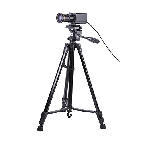 Funien Fotocamera per computer,4K Videocamera HD Videocamera Computer Webcam 8 Megapixel Zoom ottico 10X Zoom grandangolare 60 gradi Messa a fuoco manuale Compensazione dell'esposizione automatica