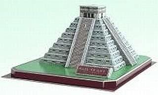 CALEBOU 3D PUZZLES Mayan Kukulan Pyramid in Mexico 3 D Puzzle Model Kit