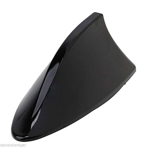 DishyKooker Universal Roof Car Antenna Aerial Shark Fin Radio Signal for Auto SUV Truck Van Black The Latest Stylish,The Best Gift for Family or Friends