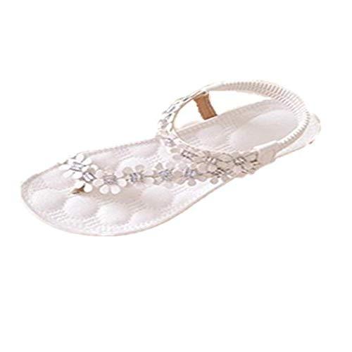 Vovotrade® , Damen Sandalen Weiß Blanco, Weiß - Blanco - Größe: EU tamaño 38