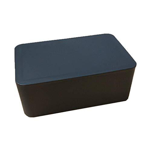 DealMux Soporte para dispensador de toallitas húmedas con tapa Caja de almacenamiento de pañuelos a prueba de polvo para oficina en casa Soporte para dispensador de toallitas húmedas Negro