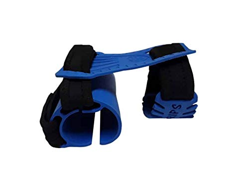 Clutch Grips E-1 Eagle Talon Weightlifting Workout Gloves with Wrist Strap, Adjustable for Men and Women, Use with Free Weights, Crossfit, Machines, Rowing, Cycling - One Size Fits All (Blue)
