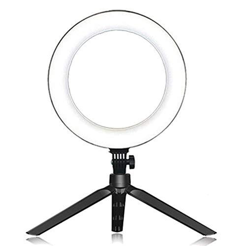 Anillo de luz LED para lámpara, trípode, Anillo Redondo para Selfie, luz con trípode para teléfono móvil, fotografía, lámpara, aro, Luces de Anillo - Blanco # 1